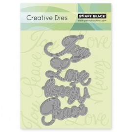 51021 Penny Black Creative Die Love & Joy