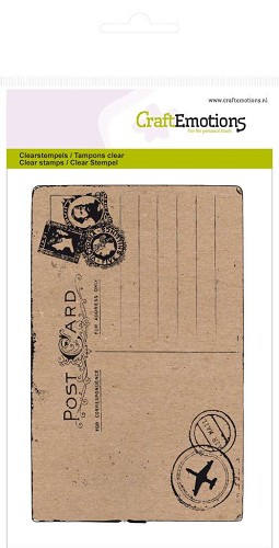 CraftEmotions clearstamps A6 - briefkaart