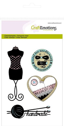 CraftEmotions clearstamps A6 - couture paspop
