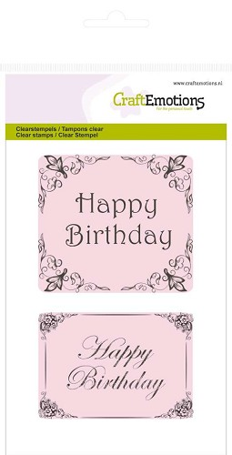 CraftEmotions clearstamps A6 - Happy Birthday Botanical
