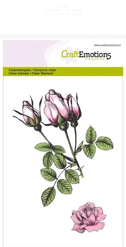 CraftEmotions clearstamps A6 - rozen knoppen Botanical