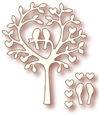 Wild Rose Studio`s Specialty die - Love Bird Tree