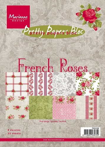 Paperpad Marianne design Franse roos
