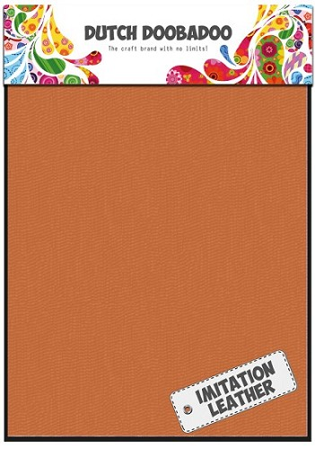 Dutch Doobadoo - Fabric Art - Imitatie leather oranje