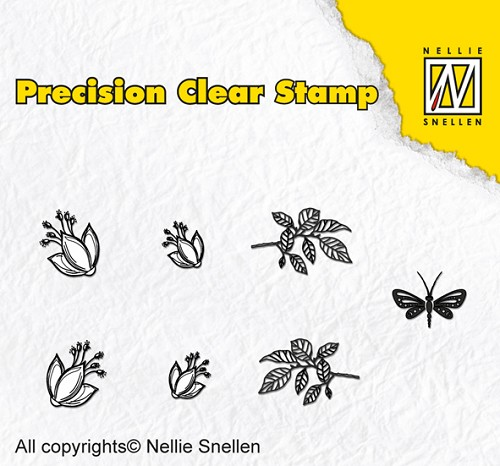 Precision clear stamps Nature fuchsia