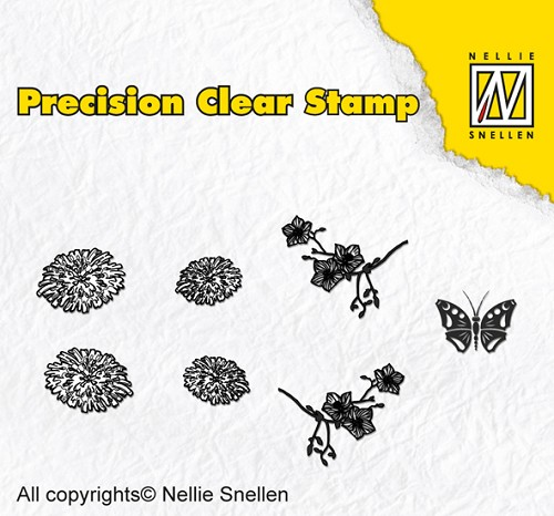 Precision clear stamps Nature dandelion