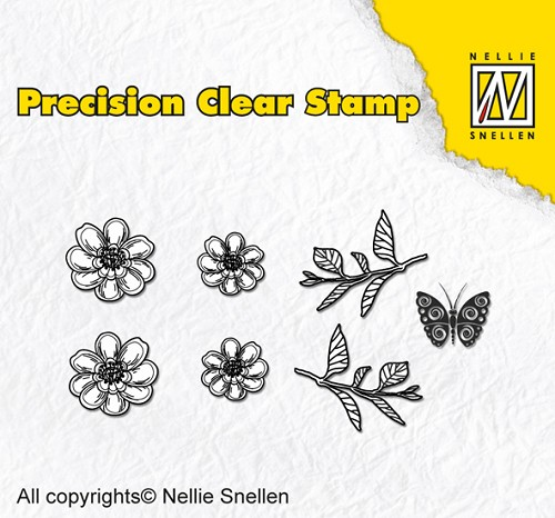 Precision clear stamps Nature anemone