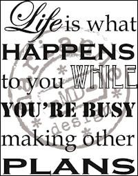 Marianne Design Clearstamps - Life is what happens