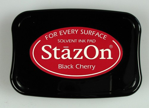 Stazon Ink pad black cherry