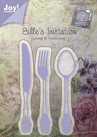 Bille`s Invitation bestek - snijmal Joy!Crafts