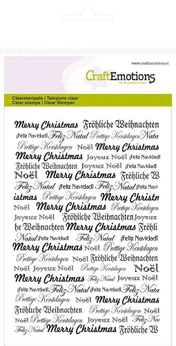 CraftEmotions clearstamps A6 - achtergrond tekst kerst Purple Holiday