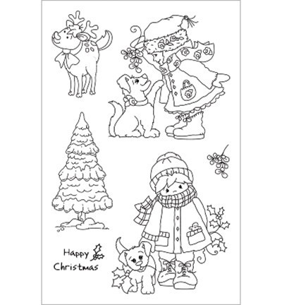 Cuddly Buddly Clear Stamp - Winter Walkies