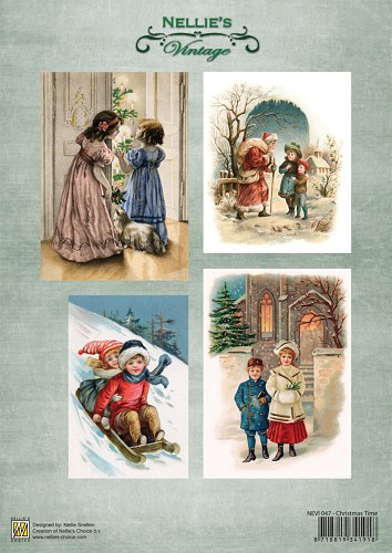 Decoupage sheets A4 Vintage Christmas time