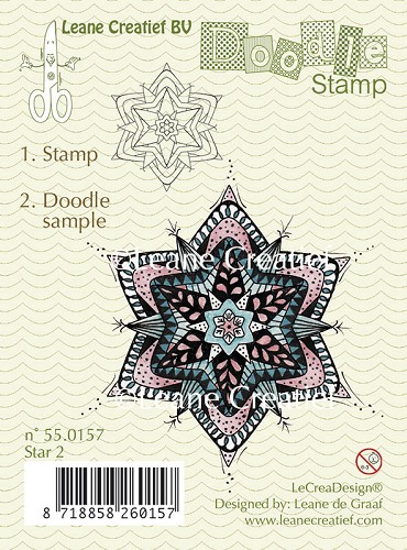 Doodle clear stamp Star 2