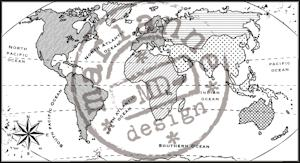 Marianne Design Clear stamp map of the World