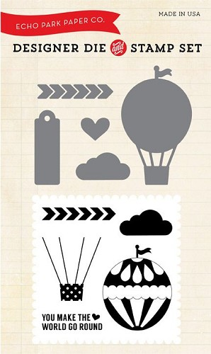 Echo Park We Are Family Hot Air Balloon Designer Die & Stamp Combo Set (EPDie/Stamp2)