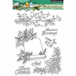 Penny Black stempel - Holly Scroll