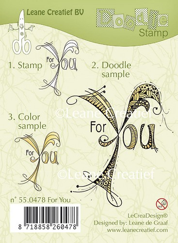 Doodle clear stamp For You