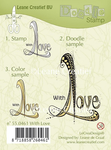 Doodle clear stamp With Love