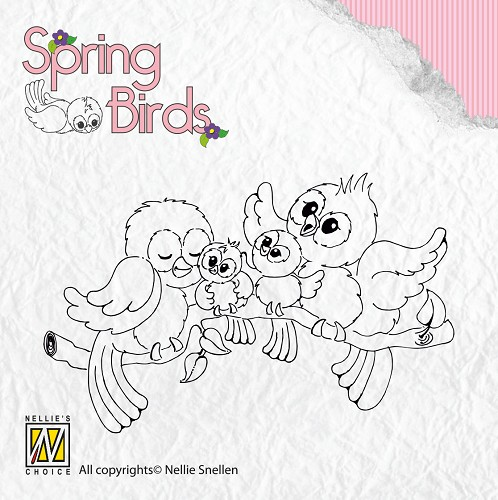 Clear stamps Spring-birds Happy Family