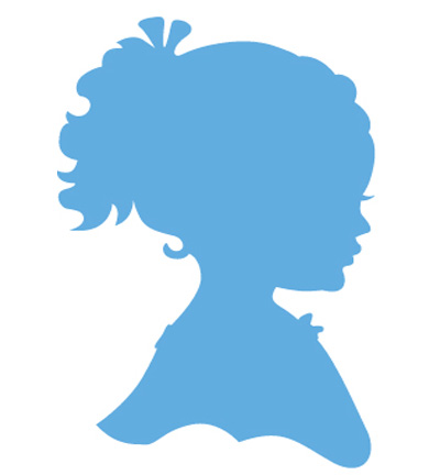 Marianne design - Silhouette girl with ponytail