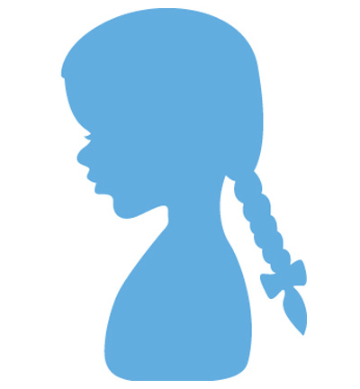 Marianne design - Silhouette girl with braids