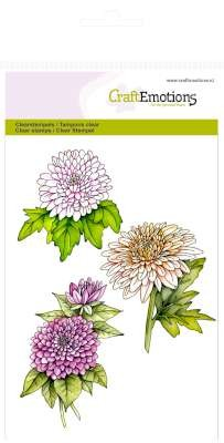 CraftEmotions stempel - Chrysanten tak Botanical Summer