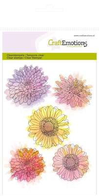 CraftEmotions stempel - Chrysanten bloem Botanical Summer