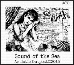 stempel - sound sea - cling stamp