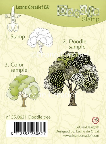 Doodle clear stamp Tree