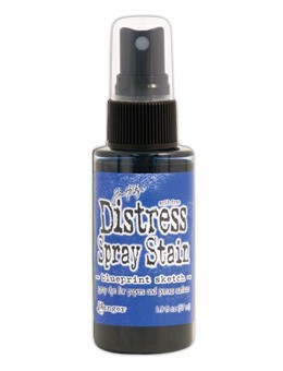 Distress spray stain- blueprint sketch