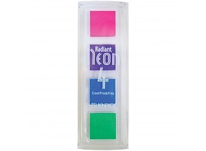 Radiant Neon Quartet Cool 1x1 Inch Ink Pads