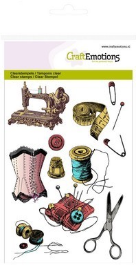 CraftEmotions clearstempelset-Needlework