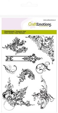 CraftEmotions clearstamps A6 - ornamenten