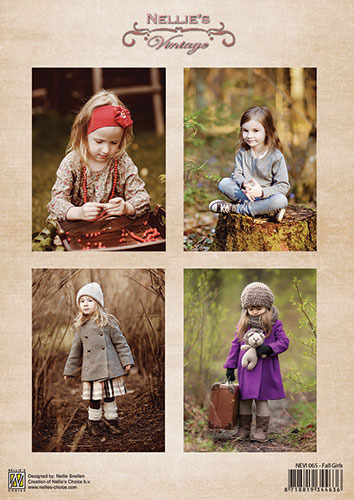 Decoupage sheet vintage - Fall Girls