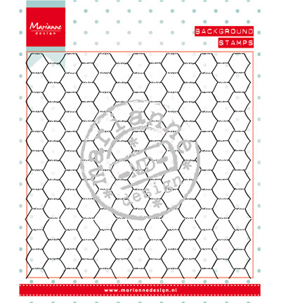 Marianne Design - Background - Background: chickenwire - Stempels