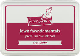 Stempelinkt - Lawn Fawn - Cranberry