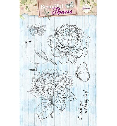 Studio Light - Stamps Beautiful Flowers - Beautiful Flowers nr.143