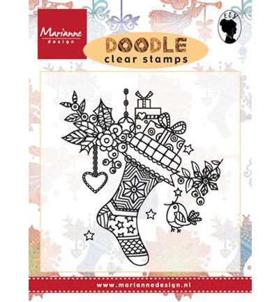 Marianne Design - Stempels-Doodle Christmas stocking