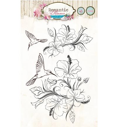 Stempels - Studio Light - Stamps Romantic Summer - Romantic Summer nr.145