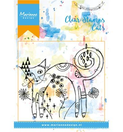 Stempels - Marianne Design - Background - Skinny cat