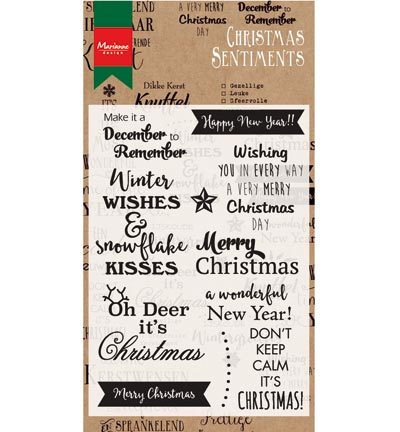 Marianne Design - Teksten - Christmas sentiments