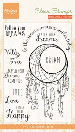 Marianne D Stempel Dreamcatcher sentiments (EN) CS0989