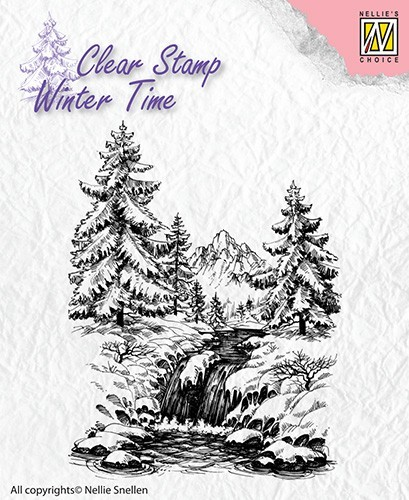 Nellie Snelle stamp Winter Waterfall