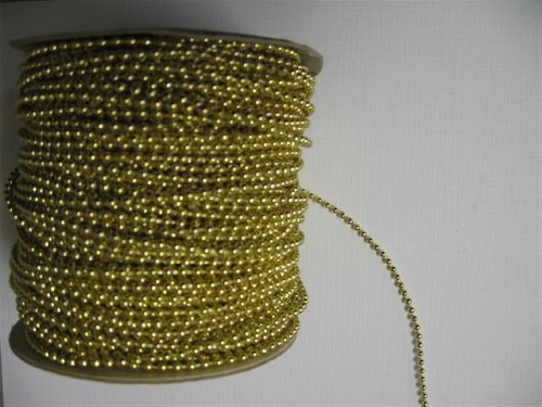 Parelsnoer goud 3 mm.