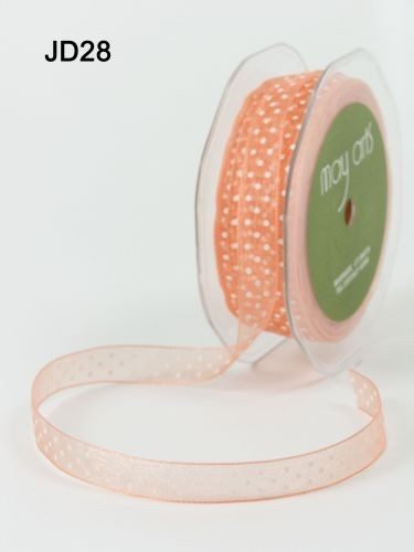 May Arts Lint - Organza Dots - oranje