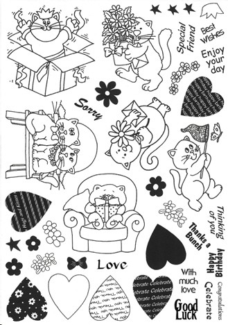 Clear Stamps Design House - Power Cats