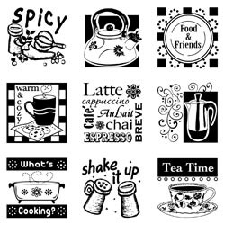 Inkadinkado Clear Stamp Set - In the Kitchen
