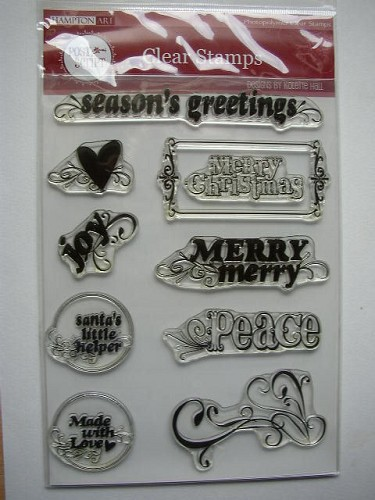 Clear Stamps Hampton Art - Post Script Seasons Greetings
