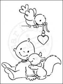 Marianne Design - Clear Stamp Sweet baby